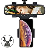 Cell Phone Holder - Car Mount Holder Car Rearview Mirror Mount Holder Truck Auto Bracket Holder Cradle for iPhone XS/X/8/7/6/6s Plus, Samsung Galaxy S9/S8, Huawei Mate 20 Cell Phones and GPS ect