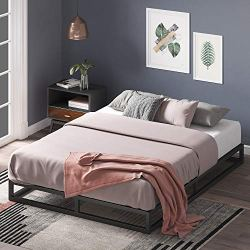 Zinus Joseph 6 Inch Metal Platforma Bed Frame / Mattress Foundation / Wood Slat Support / No Box Spring Needed / Sturdy…