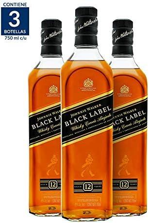 5155xSzzIPL. AC  - Whisky Johnnie Walker Black Label 750ML (Paquete de 3) #Amazon