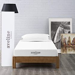 Modway Aveline 6″ Gel Infused Memory Twin Mattress With CertiPUR-US Certified Foam, None