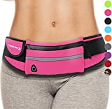 Running Belt for Phone: Best Fanny Pack Waist Packs Waistband Bag (Pink) Gifts For Women Mom Girls Ladies Wife Sister Aunts. 2019 Gift Ideas Stocking Stuffer Presents Workout Phone Holder Case for Her