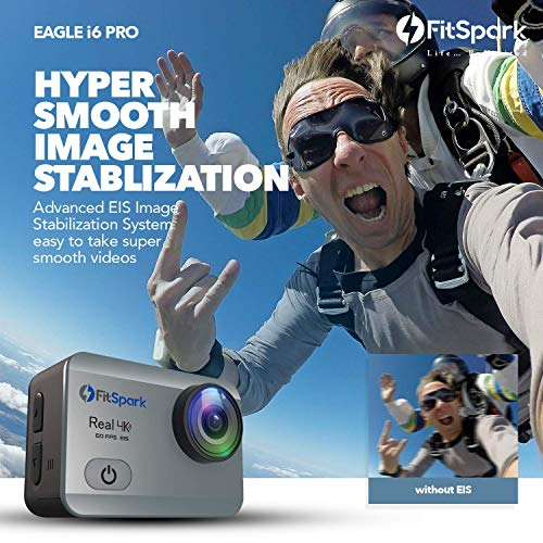 FitSpark-Eagle-i6-PRO-Real-4K60fps-WiFi-Action-Camera-16MP-Ultra-HD-170-Wide-Angle-Lens-External-MIC-Support-EIS-Distortion-Correction-40M-Waterproof-Wireless-Remote-All-Accessories-Kit