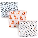 Hudson Baby Unisex Baby Muslin Swaddle Blankets, Foxes 3 Pack, One Size