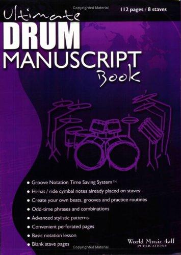 Ultimate Drum Manuscript Book | My Drum Book