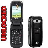 LG B470 Flip Phone AT&T + GSM Unlocked 3G - Black (Renewed)
