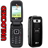 LG B470 Flip Phone AT&T + GSM Unlocked 3G - Black (Renewed)