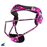 'The Grill' Defensive Fielder's Facemask for Softball in 7 Colors & Two Sizes (Pink Camo, Youth - 6 ¼ - 6 ¾)