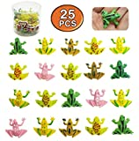 """MICHLEY 25pcs 0.9"""" Plastic Frogs Toy Mini Frogs"""