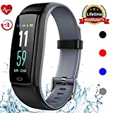 Mgaolo Fitness Tracker HR, Activity Tracker Waterproof Smart Watch Wristband with Heart Rate Blood Pressure Pedometer for Android and iPhone (Gray)