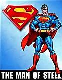 Superman Man of Steel Tin Sign, 12x16