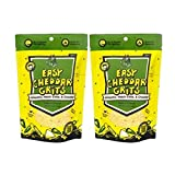 Delicious Spicy Jalapeno Yellow Corn Grits with Hatch Green Chile, Garlic, Cheddar. Two 6oz Packs 170 Grams Each. Just Add Water to Make Famous New Mexico Hatch Chile, Great for Easy Meal, Camping