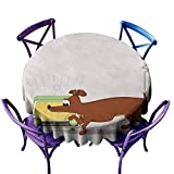 Beihai1Sun Tablecloth for Kids/Childrens,Dog and Radio,High-end Durable Creative Home,70 INCH