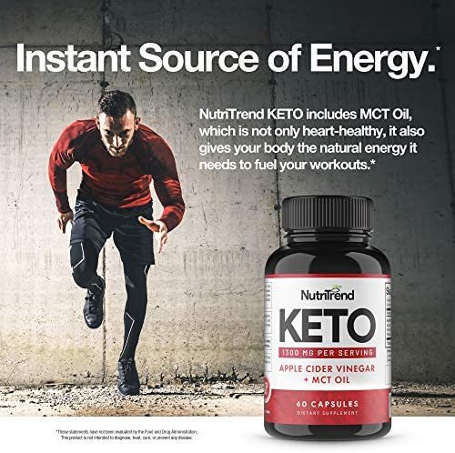 Keto Pills with Apple Cider Vinegar & MCT Oil, BHB Weight Loss Supplement, Detox Support and Immune Health, Manage Cravings & Improve Focus, Boost Energy & Metabolism - 30 Day Supply by NutriTrend 10