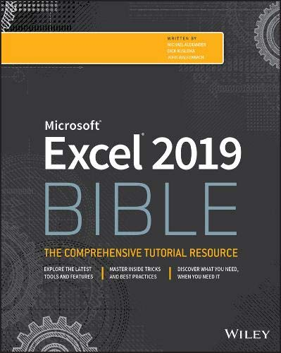 Excel 2019 Bible Front Cover