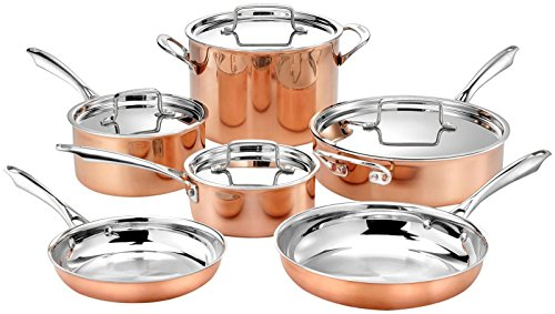 Cuisinart 10pc Tri-Ply Cooper Cookware Set: 1qt with Cover,2.5qt with...