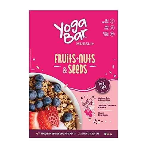 Yogabar Wholegrain Breakfast Muesli Fruits, Nuts + Seeds, 400g 2