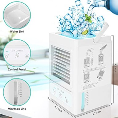 Personal-Air-Conditioner-Portable-Mini-Air-Cooler-with-3-Wind-Speeds-3-Cooling-Levels-5000mAh-Rechargeable-Battery-Auto-Oscillation-Perfect-for-Bedroom-Office-Table-Camping-Outdoor