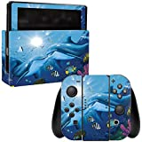 MightySkins Skin Compatible with Nintendo Switch - Kissing Dolphins | Protective, Durable, and Unique Vinyl Decal wrap Cover | Easy to Apply, Remove, and Change Styles | Made in The USA