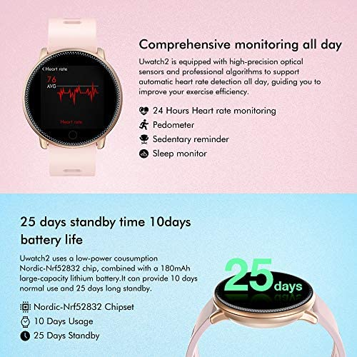 Smart Watch for Android and iOS Phone 2019 Version IP67 Waterproof,UMIDIGI Fitness Tracker Watch with Pedometer Heart Rate Monitor Sleep Tracker,Smartwatch Compatible with iPhone Samsung 5