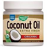 Nature's Way Organic Extra Virgin Coconut Oil- Pure, Cold-pressed, Organic, Non-GMO, Gluten-free- 16 Ounce