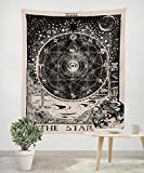 Neasyth Wall Hanging Tarot Tapestry Meditation Divination Ethnic Tapestries Art Rugs Polyester for Home Decor The Star (60 x 52 in)