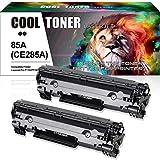 Cool Toner Compatible Toner Cartridge Replacement for HP 85A CE285A P1102w for HP LaserJet P1102w M1212nf HP LaserJet Pro P1100 P1102 P1102w M1212nf M1217nfw M1132 Ink Toner Printer (2 Packs-Black)