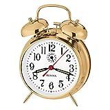 Bulova B8124 Bellman Alarm Clock Gold