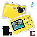 Waterproof Camera for Kids, DECOMEN Underwater Digital Camera for Kids, Sport Action Camcorder with 12MP HD Photo Resolution, 8X Digital Zoom, and Flash with 8G SD Card and Non-Rechargeable Battery