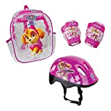 Paw Patrol DARP-OPAW004-F Skye Helmet with Knee, Elbow Pad and Bag Protection Pack