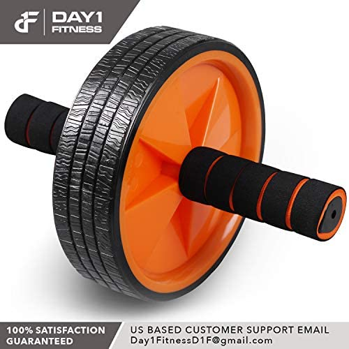 Ab Wheel Roller by Day 1 Fitness for Core Training, with Extra Traction and Easy Glide - Premium, Durable Exercise Wheel with Non-Slip Grip for Men and Women - Abdominal Workout Equipment for Obliques 8