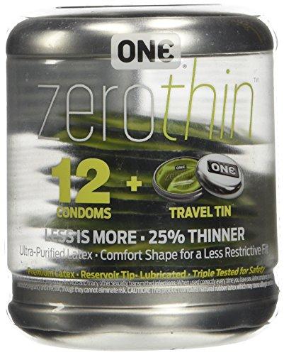 ONE Zero Condoms 12 Retail Box