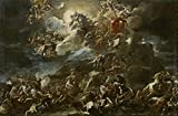 Oil Painting 'Giordano Luca Victoria De Los Israelitas Y Cantico De Debora Ca. 1692' 10 x 15 inch / 25 x 39 cm , on High Definition HD canvas prints is for Gifts And Bed Room, Kitchen And Stud decor