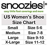 Snoozies Womens Bed of Roses Cozy Sherpa Fleece Non Skid Slipper Socks - Sky Blue, Medium