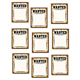 Teacher Created Resources Western Wanted Posters Accents, Brown (5138)