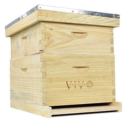 Complete Beekeeping 20 Frame Beehive Box Kit (10 medium 10 Deep) Langstroth Bee Hive from VIVO (BEE-HV01)