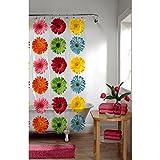MAYTEX Photoreal Gerber Daisy Waterproof PEVA Shower Curtain