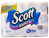 Scott 1000 Sheets Per Roll Toilet Paper, 36 Count