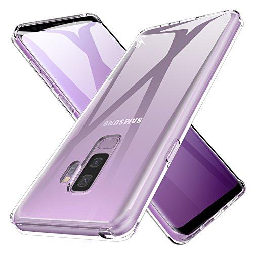 LK Case for Galaxy S9 Plus, Ultra [Slim Thin] Crystal Clear TPU Rubber Soft Skin Silicone Protective Case Cover for Samsung Galaxy S9 Plus (Clear)