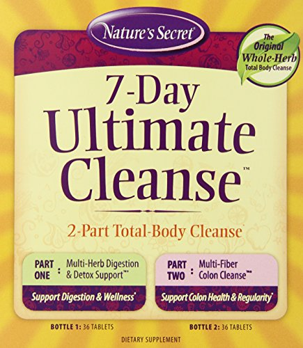 Nature's Secret 7 Day Ultimate Cleanse Supplement, 72 Count