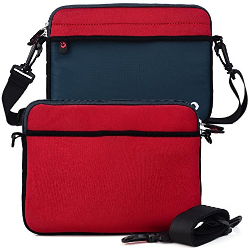 Patriot Red/Blue Universal Everyday Shoulder Bag for Kocaso MX780, MX9200, MX9300, M760 Android 4.0 7' Tablet (Loose Fit)