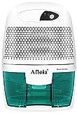 Afloia Portable Small Dehumidifier for Bathroom, Electic Mini Home dehumidifier for Home Deshumidificador Home Dehumidifier for Baby Room Bathroom Space Bedroom RV Basement, Caravan, Office (500ml)