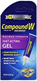 Compound W Fast Acting Gel, Salicylic Acid Wart Remover, 0.25 Oz, Pack of 2