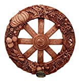 Gifts & Decor Ebros The Sabbats Wheel of The Year Wall Plaque Featuring Eight Pagan Festivals Sabbats by Maxine Miller