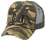 Caterpillar Men's Raised Logo Cap (Woodland Camo)