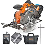 """VonHaus 20V MAX Cordless Circular Saw 6-1/2"""" with Brake and 2x Saw Blades, 3.0Ah Lithium-Ion Battery and Charger Kit Included"""