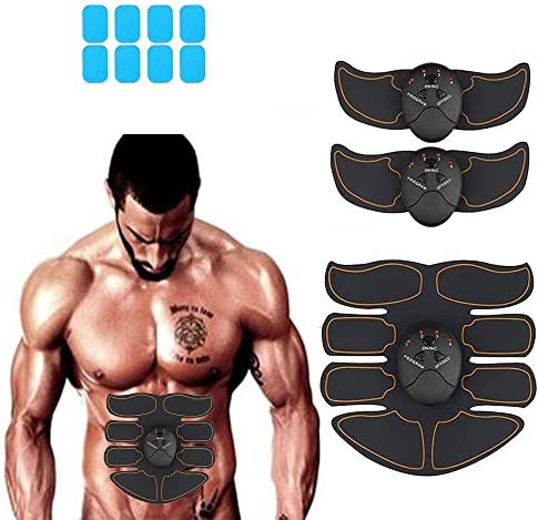 Abdominal muscle trainer, home office exercise wireless portable fitness equipment for men and women with abdominal/arm/leg exercise, free of charge with 10 gel pads 1