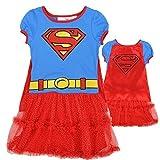 DC Comics Little Girls' Supergirl Dress with Cape (6)
