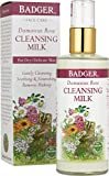 Badger Damascus Rose Cleansing Milk - 4 oz Glass Bottle