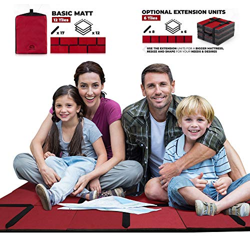 Summer 2019 - Foam Camping Pad - Portable Sleeping Mat - Multi Uses for Outdoor and Indoor - Camping Mats for Sleeping, Play Mat for Kids and Toddlers - Camping Floor Mat for Tent (Basic Mat)