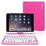 iPad Mini 4 Keyboard, Snugg [Pink] Wireless Bluetooth Keyboard Case Cover 360° Degree Rotatable Keyboard for Apple iPad Mini 4